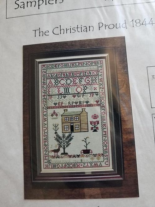 The Christian Proud 1844 Sampler - Handwork Samplers