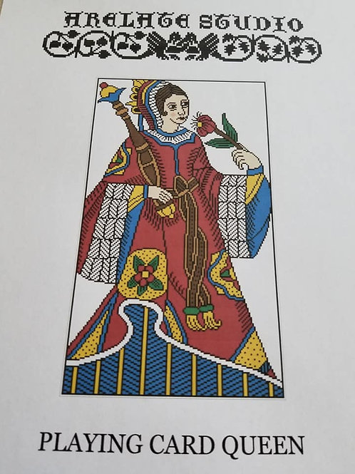 Playing Card Queen - Arelate Studio