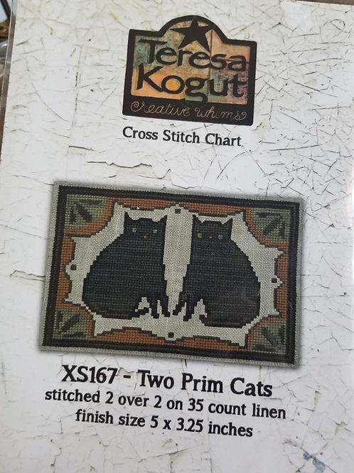 Two Prim Cats - Teresa Kogut