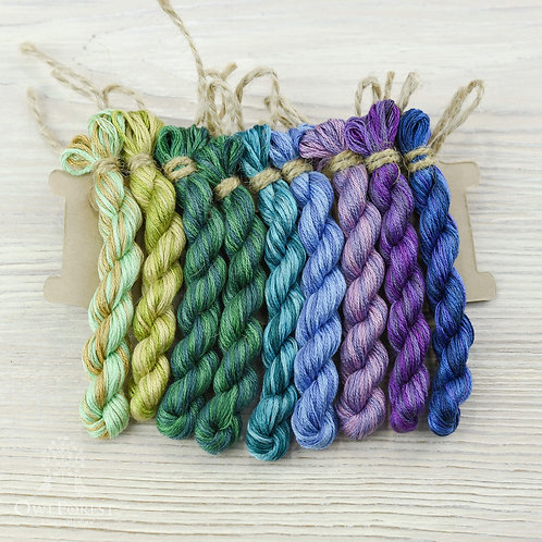 """Hand-Dyed Threads for """"Spring Alphabet"""""""