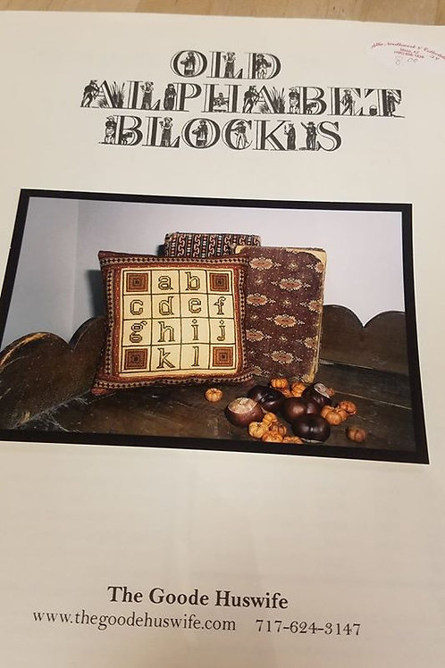 Old Alphabet Blocks - The Goode Huswife