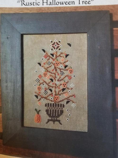 Rustic Halloween Tree - Turquoise Graphics
