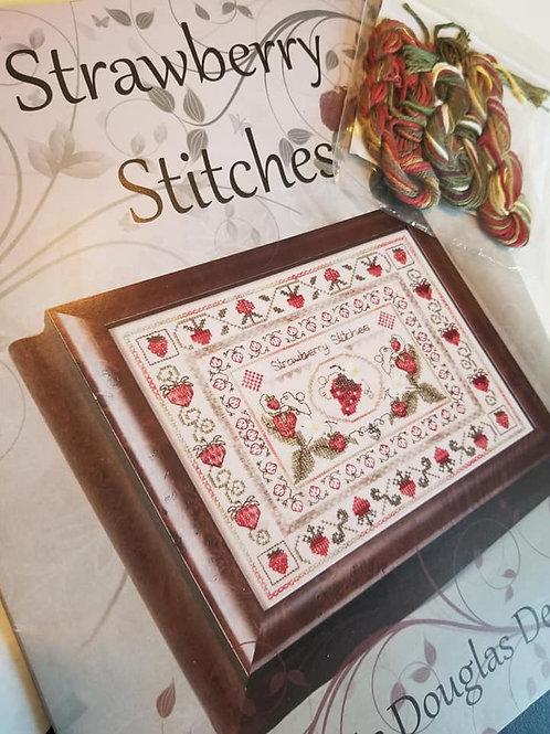 Strawberry Stitches w/ Embellishment Pack - Jeannette Douglas