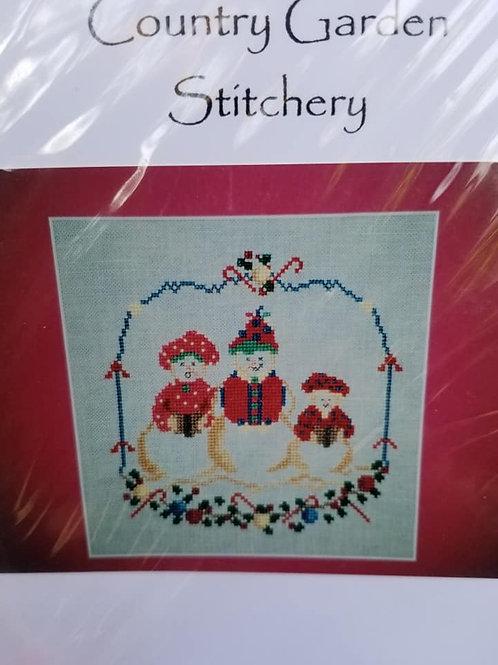 Snowmen Trio - Country Garden Stitchery