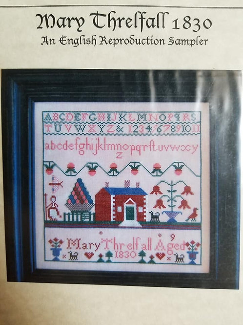 Mary Threlfall 1830 - Samplers Revisited
