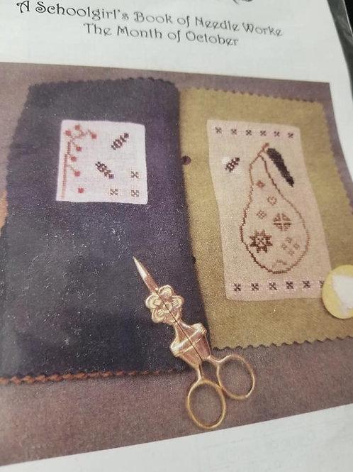 A Schoolgirl's Book of Needleworke (October) - Island Cottage Needlearts