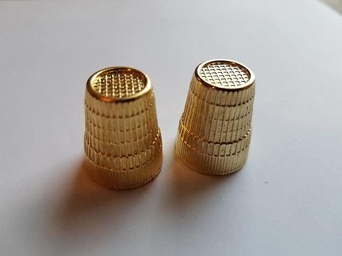 Gold Thimbles (Set of 2)