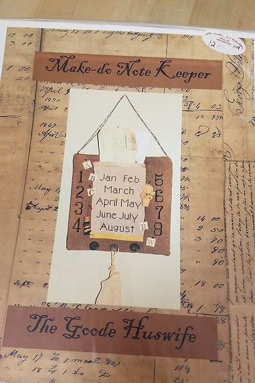 Make-do Note Keeper - The Goode Huswife