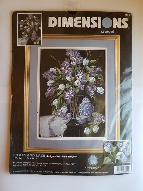 Lilacs And Lace Crewel