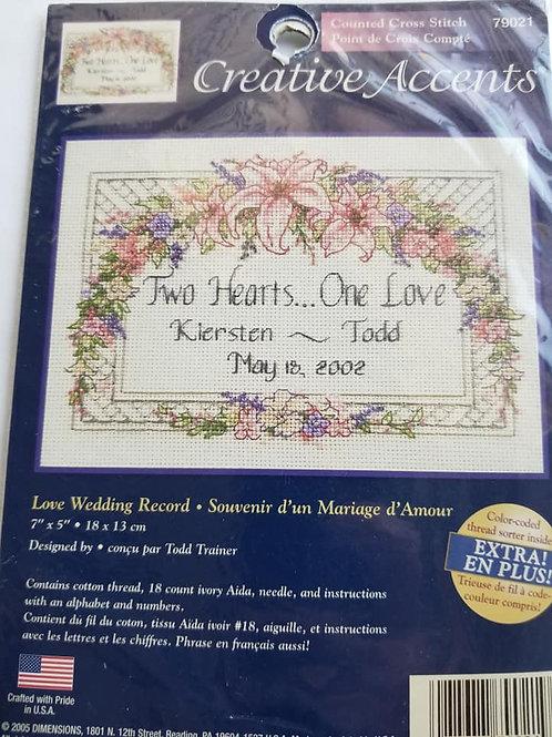 Love Wedding Record - $2 Chart