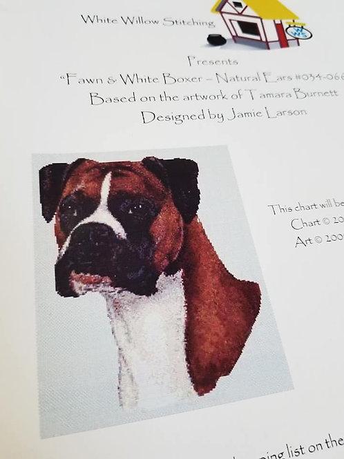 Fawn & White Boxer - $2 Charts