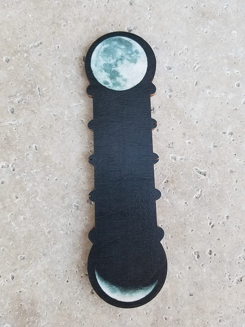 Phases of the Moon Thread Bobbin - Primitive & Wood