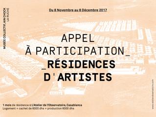 APPEL - RESIDENCE ARTISTIQUE