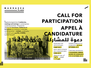 MADRASSA 2017 : APPEL A CANDIDATURE - CALL FOR PARTICIPATION