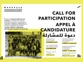 MADRASSA 2020 : APPEL A CANDIDATURE - CALL FOR PARTICIPATION