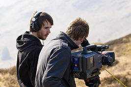 A young stephen Melling directing first short film in 2008.