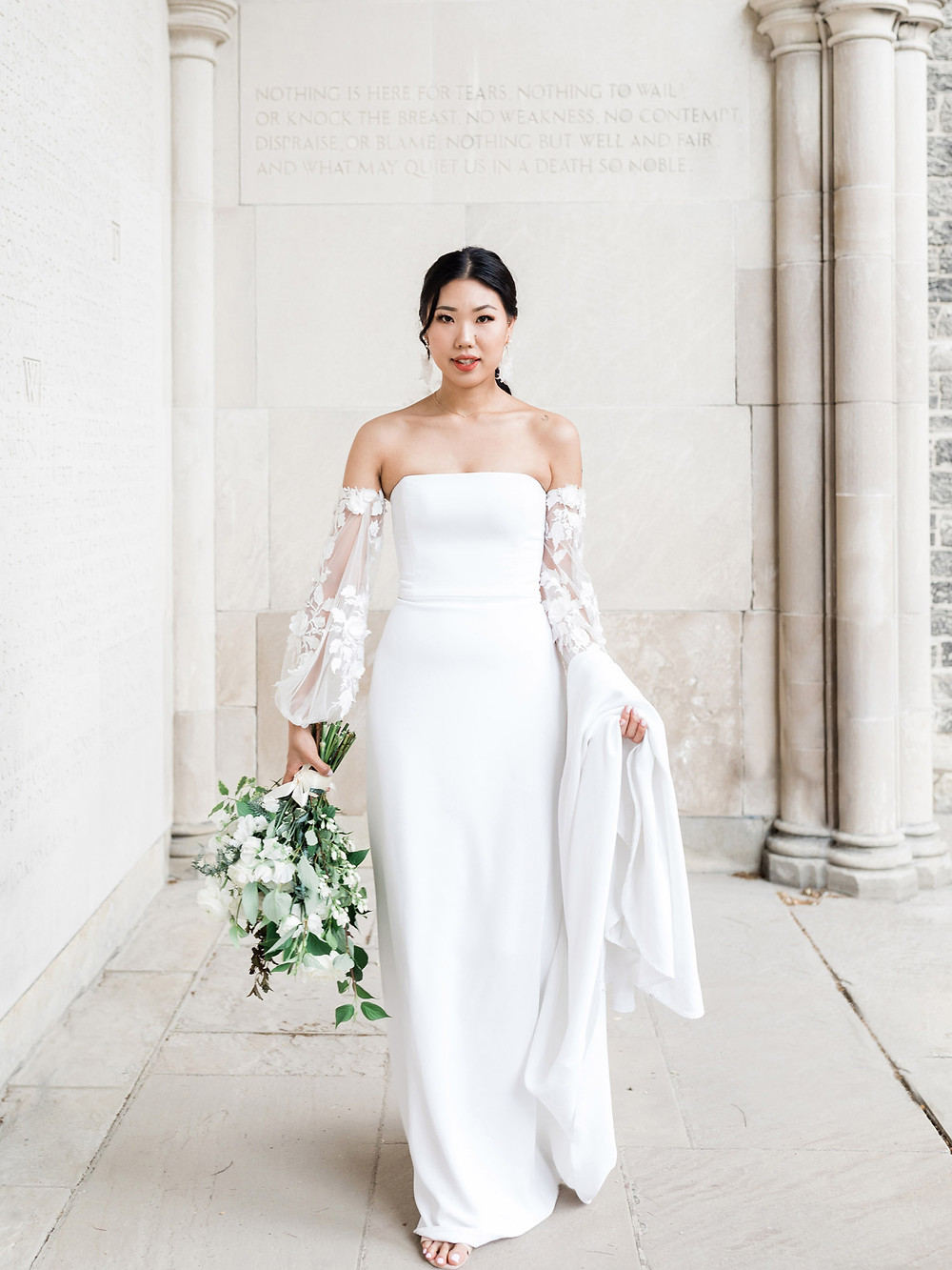 wedding shoot in hart house bride