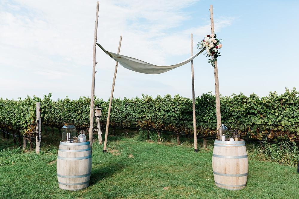 Ravine Vineyard Wedding  Outdoor Ceremony