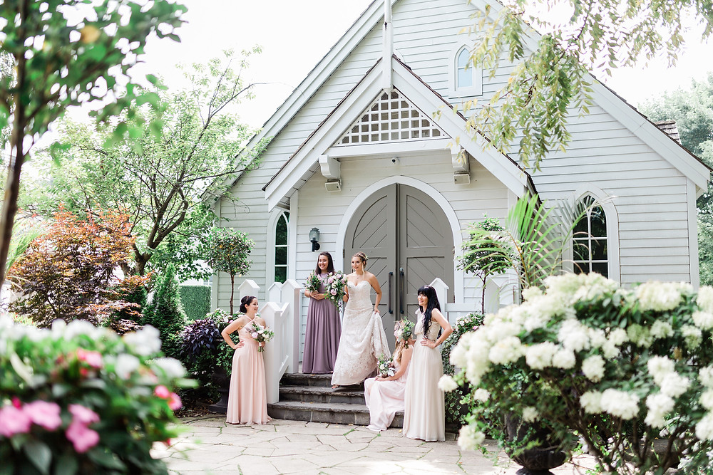 the doctors house chapel bridesmaids outdoor photo