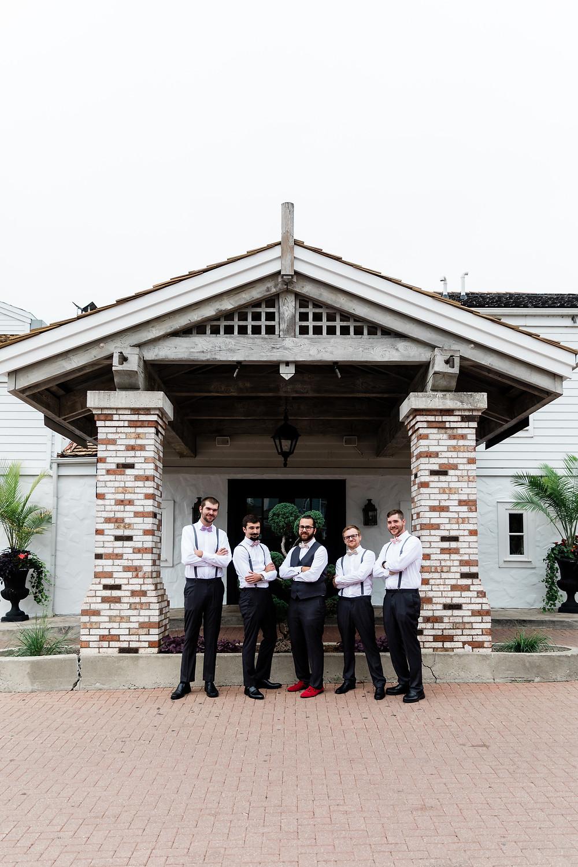 the doctors house groomsmen outdoor photo
