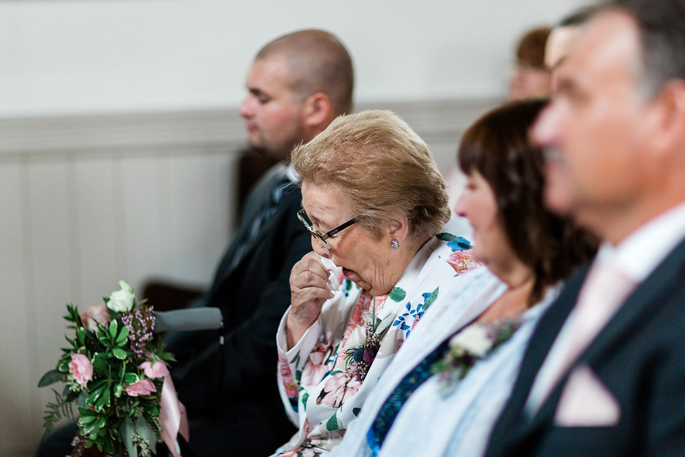 wedding ceremony guests reactions crying