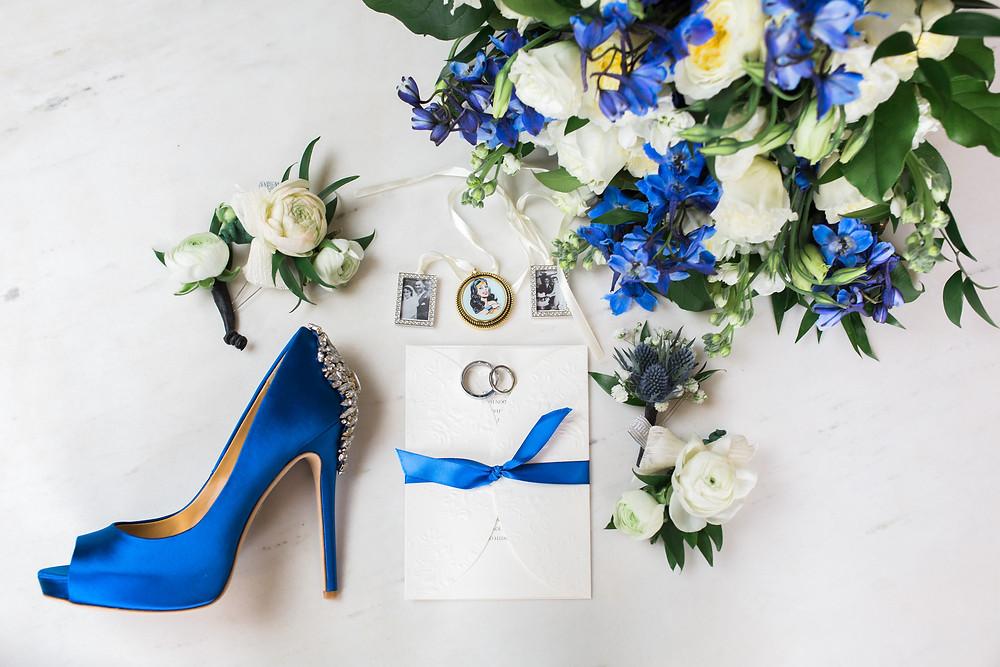 wedding details royal blue