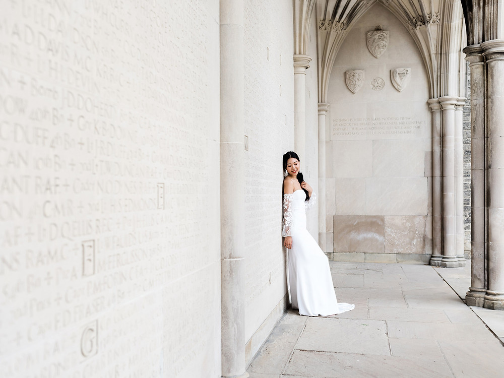 wedding shoot in hart house bridal dress