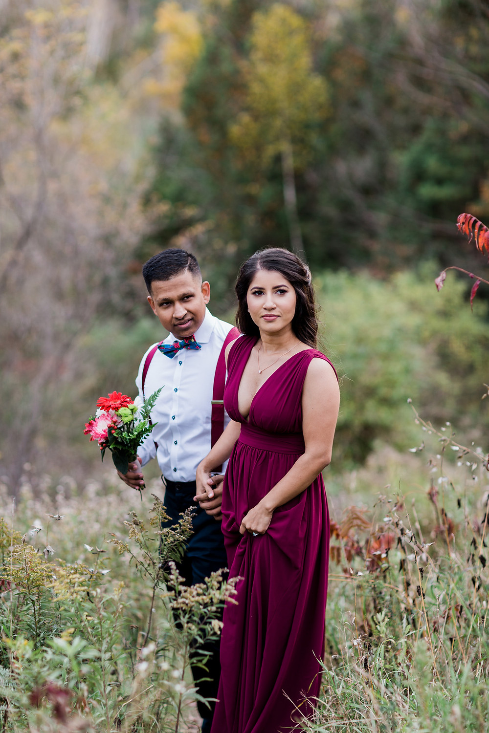 Toronto fall engagement photography rouge park