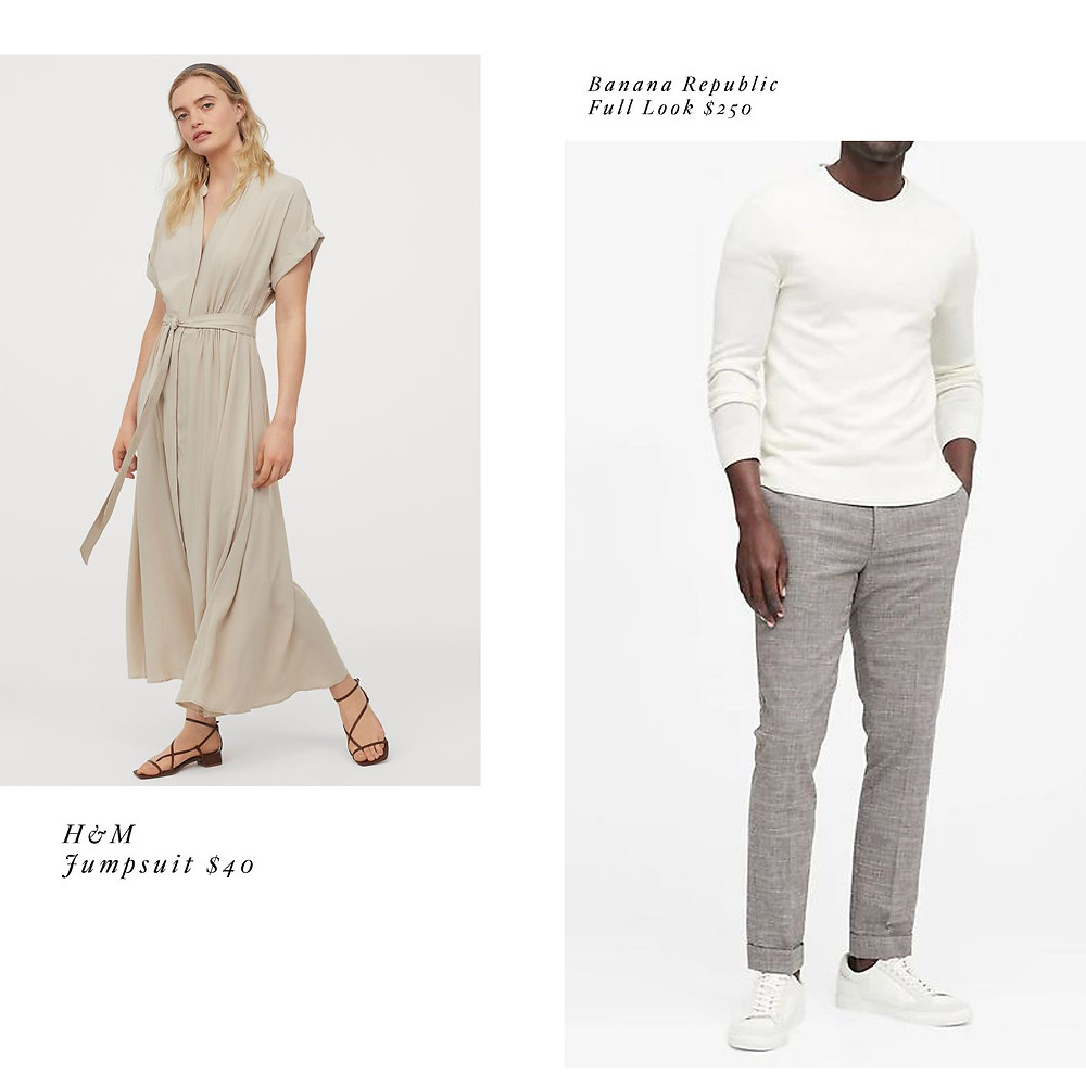 casual effortless engagement photo outfit ideas
