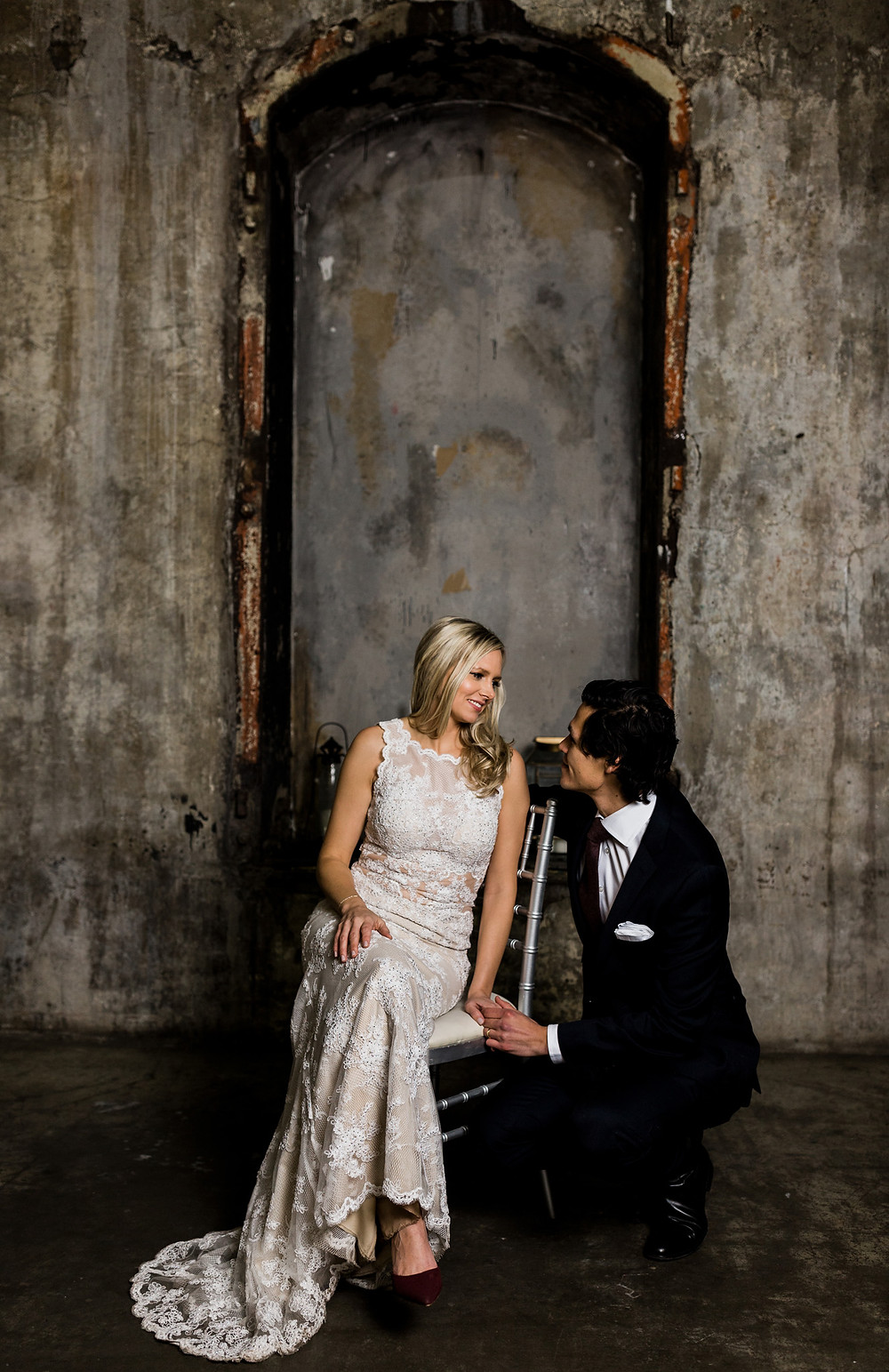 Distillery District Fermenting Cellar wedding bride and groom