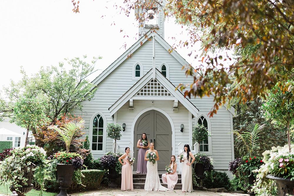 doctors house chapel kleinburg bridemaids outdoor photo