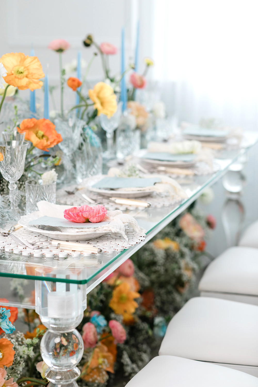 wedding reception decor tabletop wedluxe spring flowers