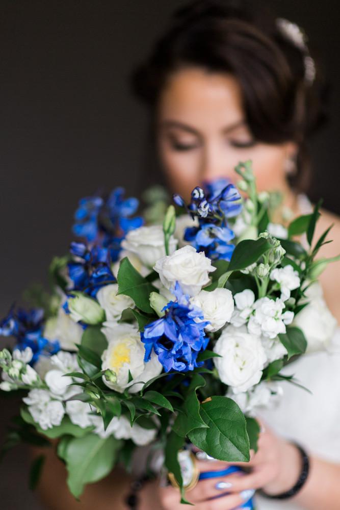 bridal bouquet blue lavish