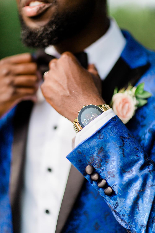 groom wedding details watch