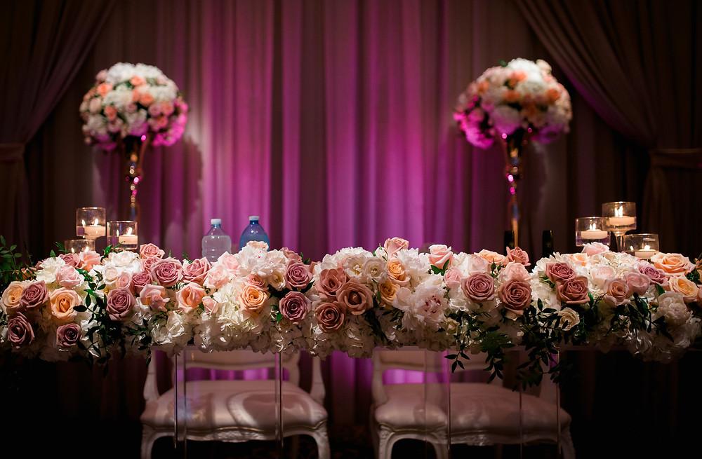 luxury sweetheart table wedding