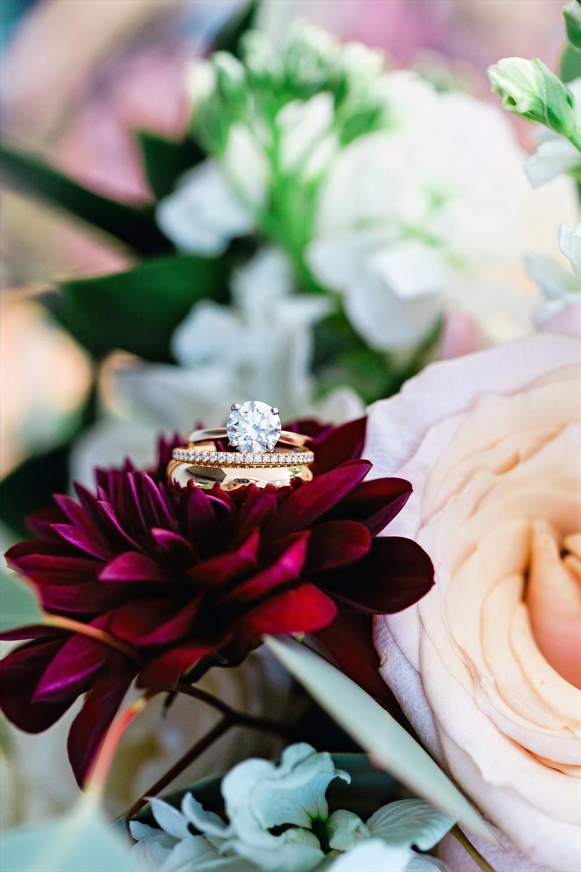 Ravine Vineyard Wedding Ring Detail Shot