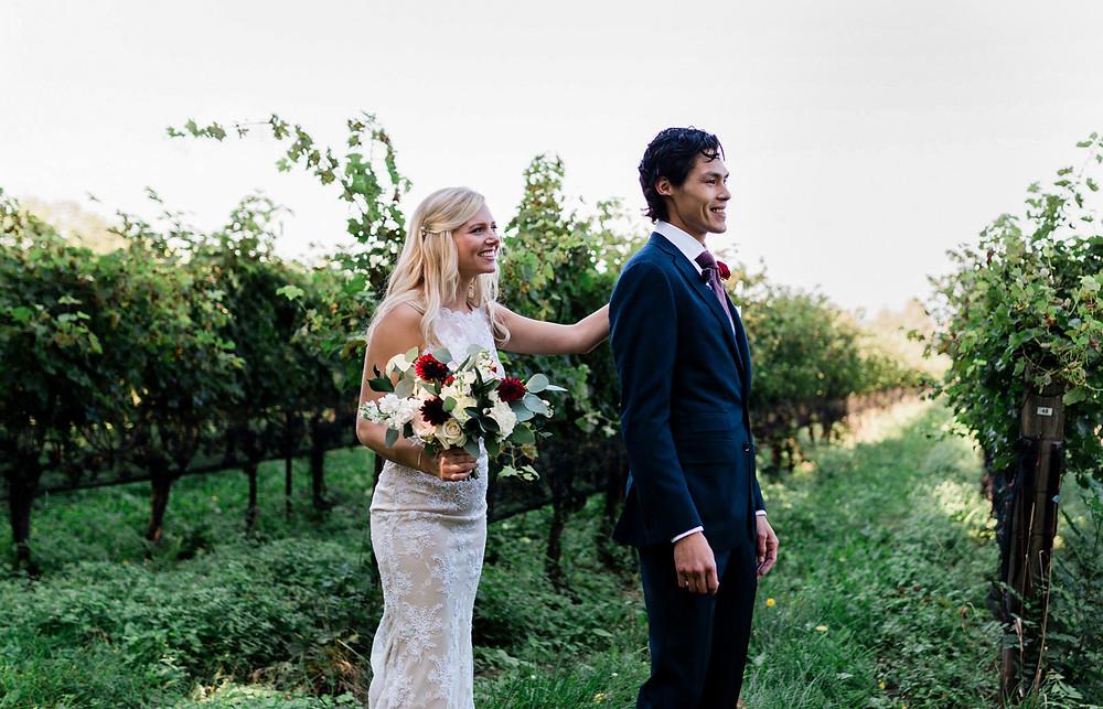 Ravine Vineyard Wedding First Look