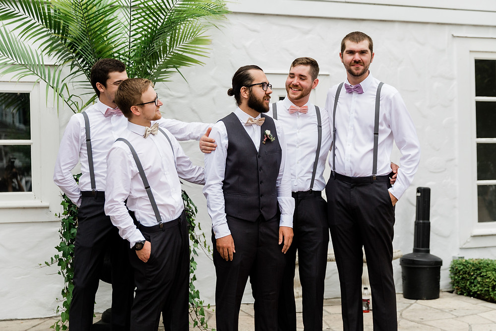 the doctors house groomsmen candid photography