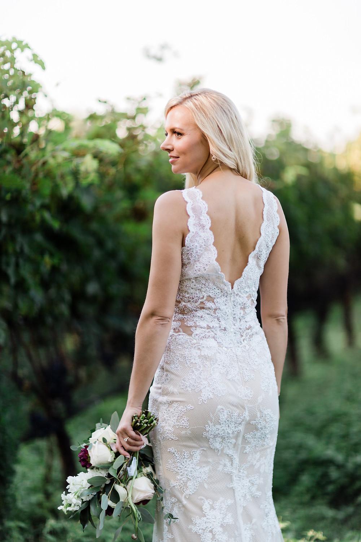 Ravine Vineyard Wedding Bride Portrait