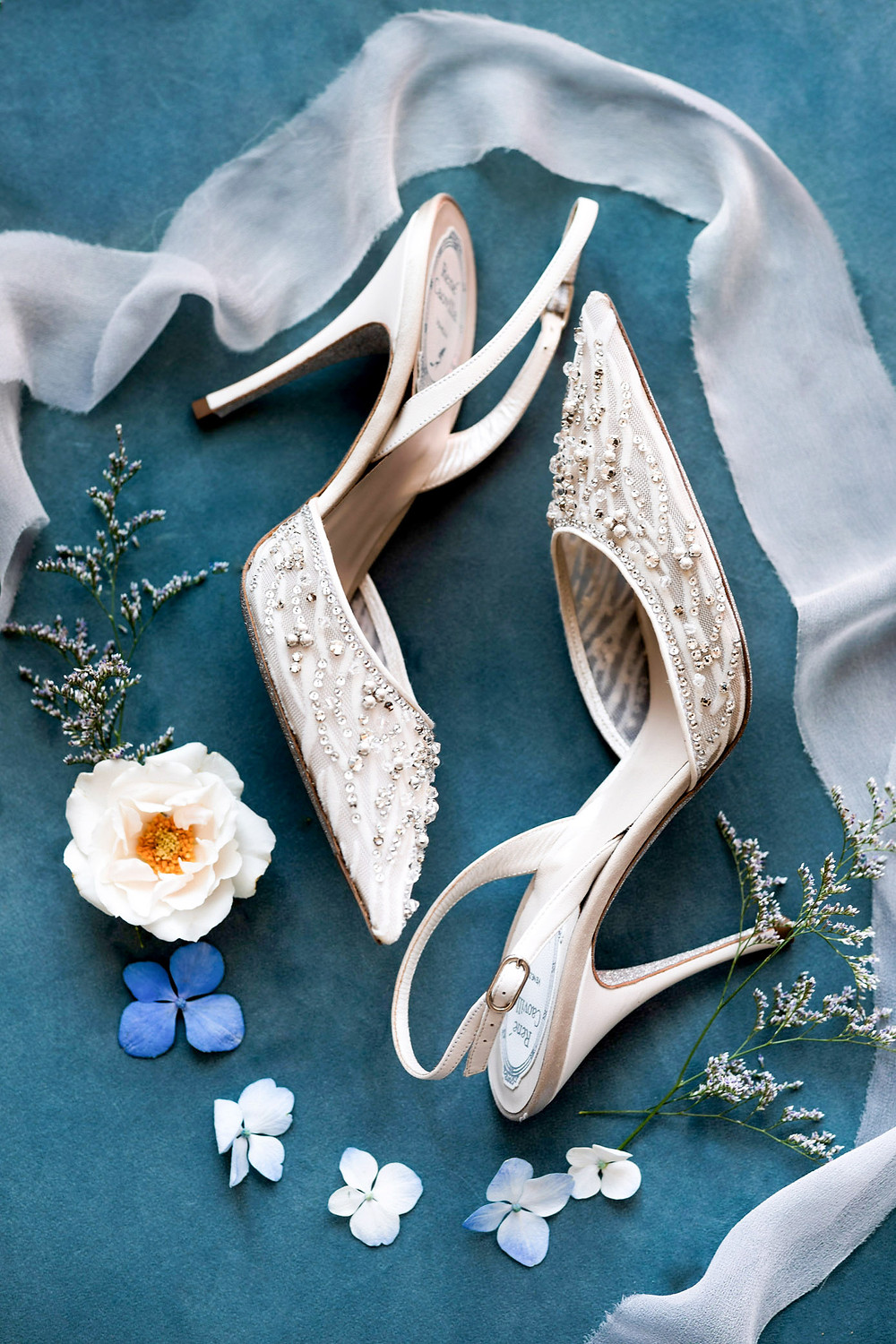 luxury bridal shoes layflat photography