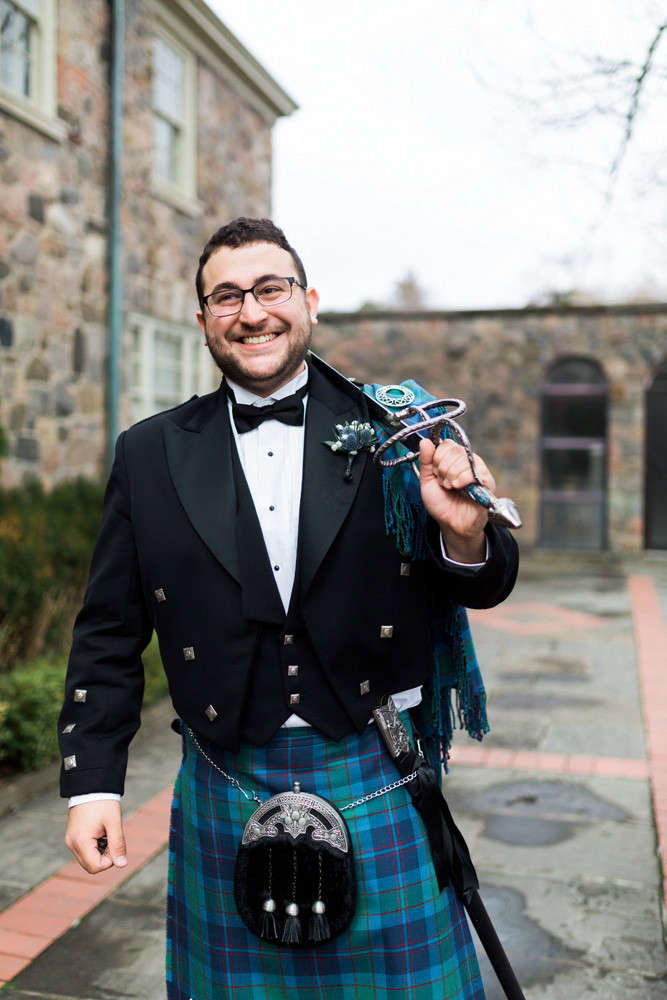 groom scottish kelt with sword