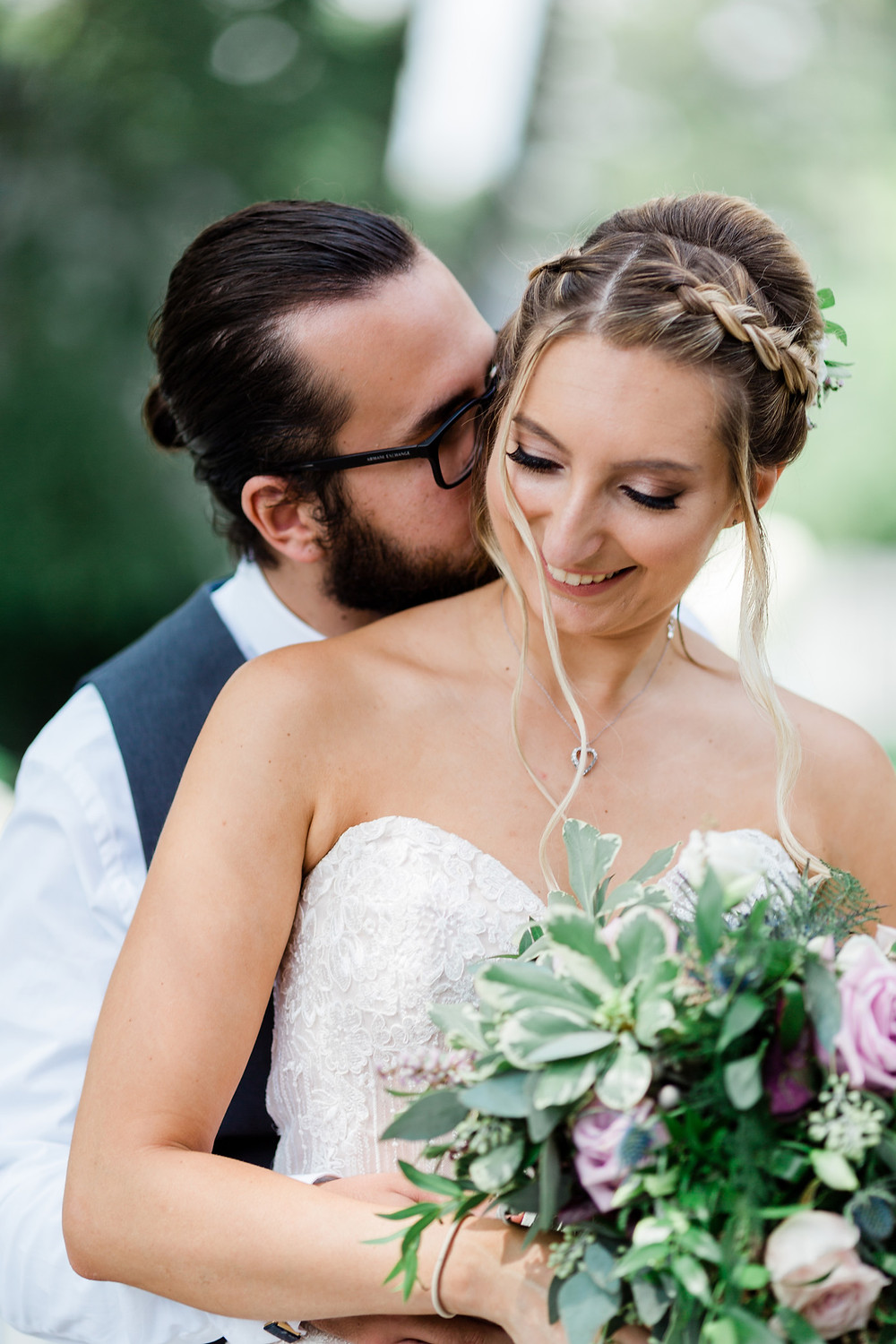 bride and groom intimate photography
