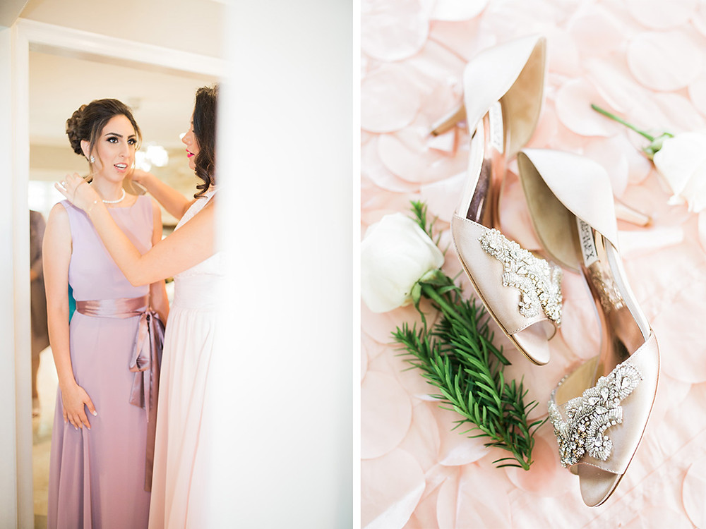 dusty pink bridal style