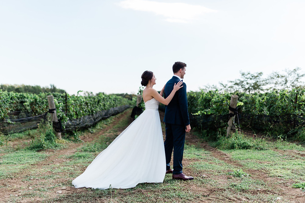 vineyard first look wedding photography huff estates winery