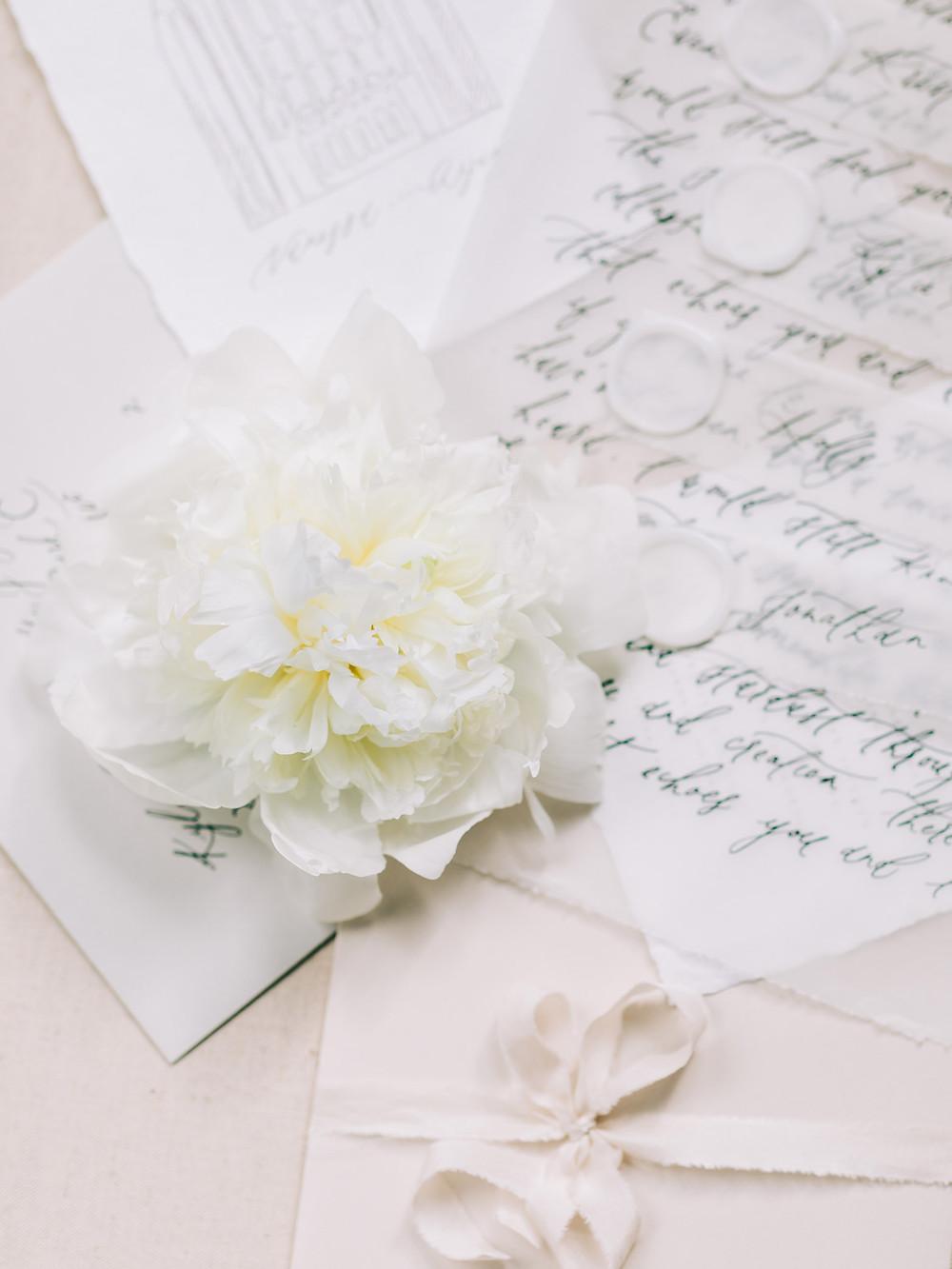 vellum love letter calligraphy
