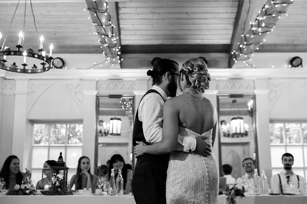 doctors house wedding garden room first dance