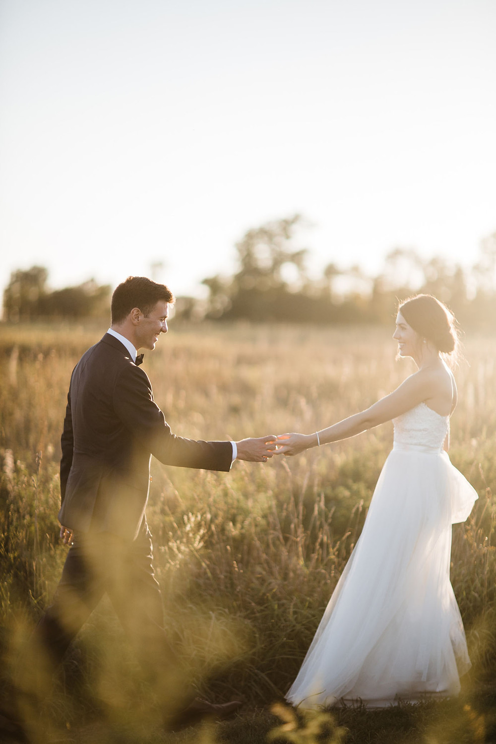 vineyard bride and groom wedding photography huff estates winery sunset
