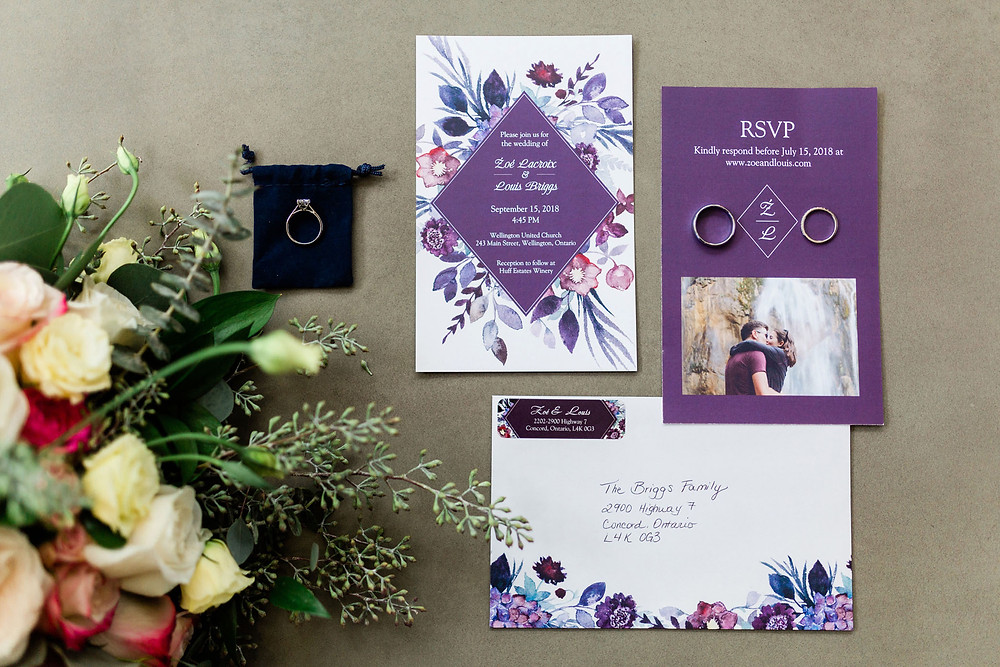 wedding details invitations