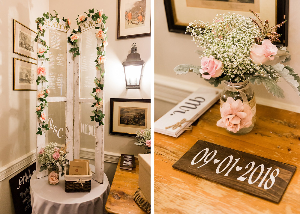 the doctors house wedding garden room rustic chic theme
