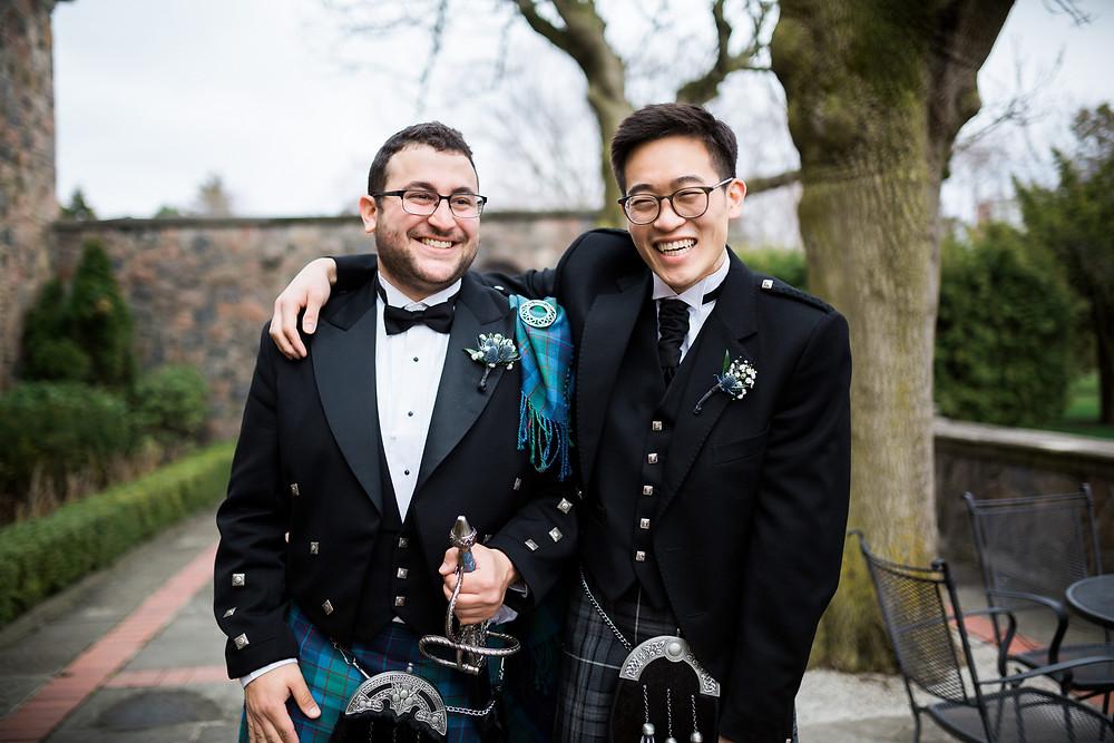groomsmen Scottish kelt attire groom sword